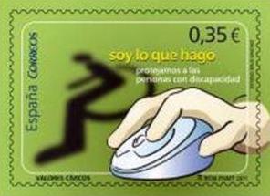 """""""Soy lo que hago. Protejamos a las personas con discapacidad"""" (Correos España 18-02-2011)"""